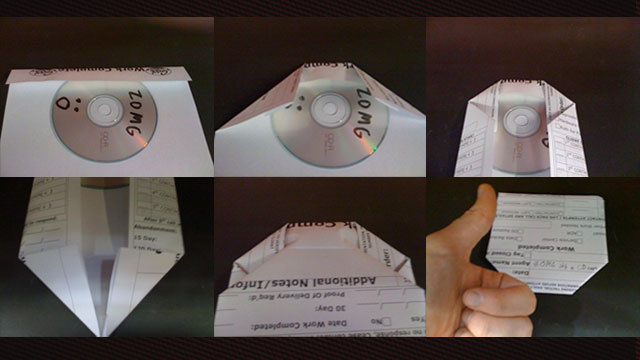 Easily Make a CD Case from a Sheet of Paper