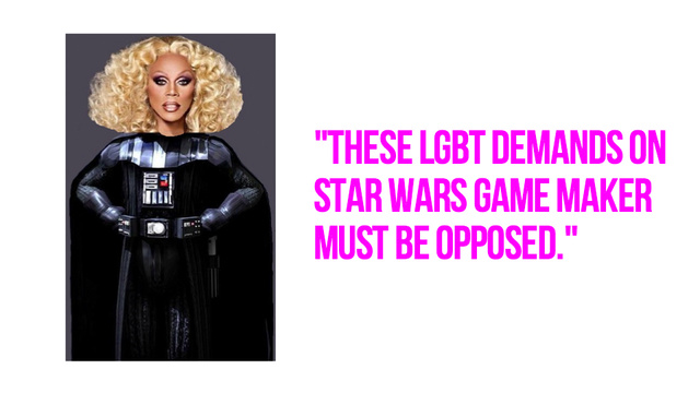 Family Values Group Rails Against Hypothetical Transgender Darth Vader Video Game