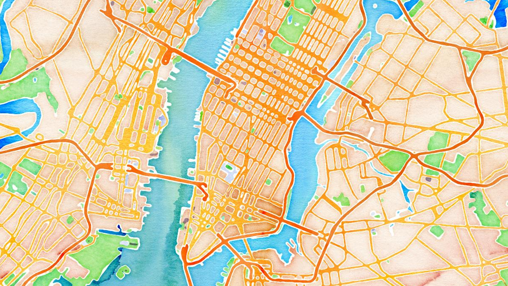 Click here to read We All Live in a Watercolor With These New OpenStreetMap Skins