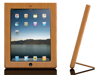 Vers Handcrafted Wood iPad Case Beautifies Your Bezel, Props Your Pad