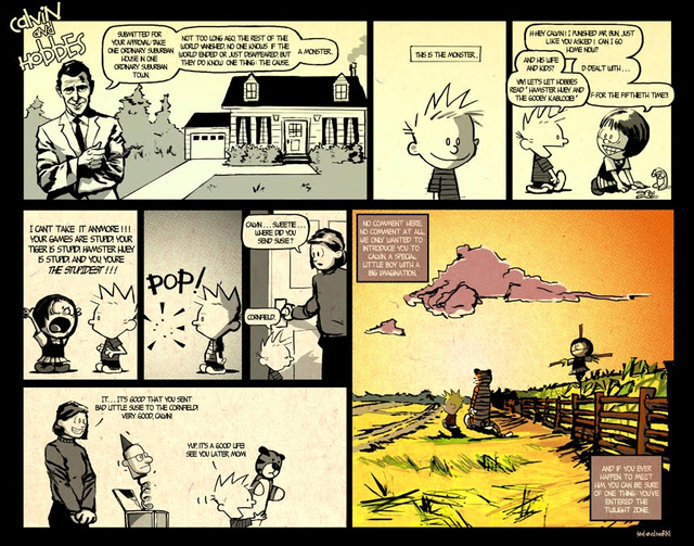 Calvin and Hobbes enter the Twilight Zone
