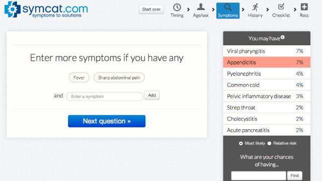 Click here to read Symcat Diagnoses Your Health Symptoms Like a Doctor Would, Then Tells You What To Do