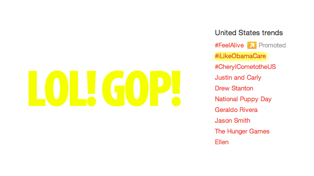 Click here to read How Conservatives Made #iLikeObamaCare The Number One Topic On Twitter (Updated)