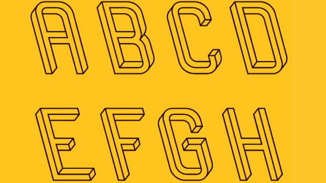 A font worthy of M.C. Escher