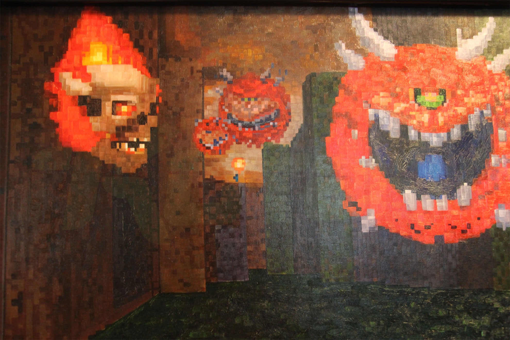 The best doom painting ever is in john romero 39 s house for Best mural paint