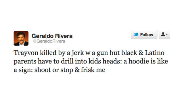 Geraldo Rivera Thinks We Should Blame Hoodies for the Death of Trayvon Martin