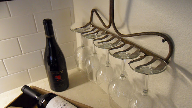 Repurpose a Rake Head Into a Wine Glass Holder
