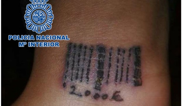 Spanish Police Rescue 19-Year-Old Woman Tattooed with a Barcode from Prostitution Ring