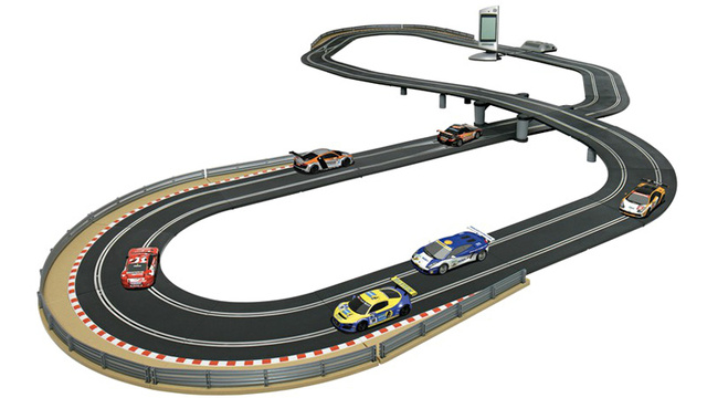 kids slot car race track