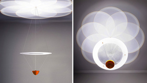 Optical Illusion Turns Simple Pendant Into an Elaborate Chandelier