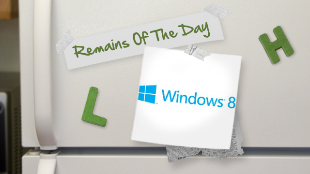 Click here to read Remains of the Day: The Summer of Windows 8?