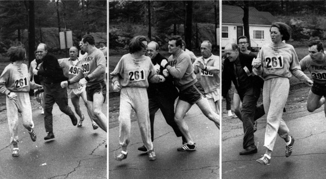 45 Years Ago, An Enraged Boston Marathon Race Director Attacked A Female Runner