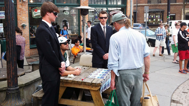 A Cornell Fraternity Pledge Had To Dress Up As Mark Sanchez And Sign Autographs In Town