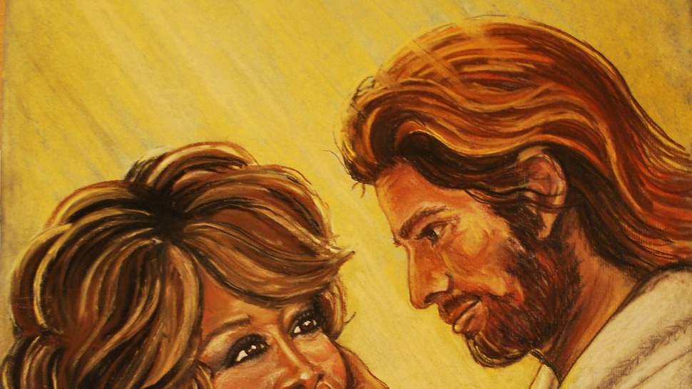This Pastel of Jesus Holding Whitney Houston's Face Could Be Yours
