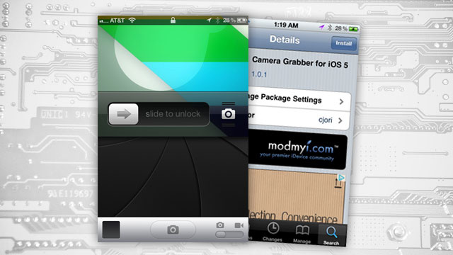 Camera Grabber Hides Your Jailbroken iPhone's Camera Underneath Your Lock Screen