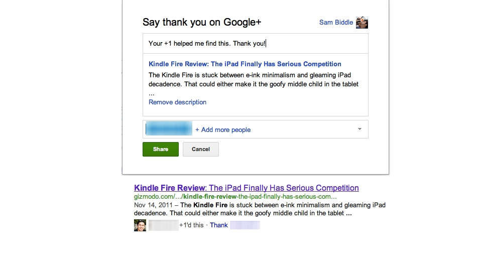 Google Is Pathetically Asking You to Thank People Who've Used Google+