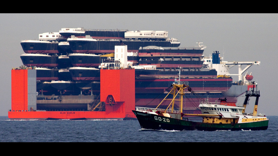 This Is A Ship Carrying A Ship Carrying A Ship Carrying A...