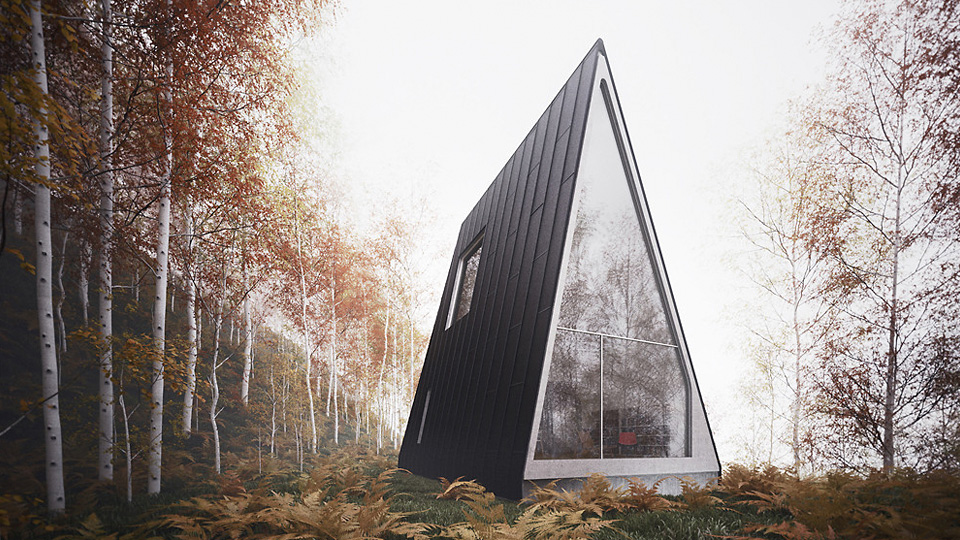 Click here to read Minimalist A-Frame Cabin Is a Temple To Serenity and Relaxation