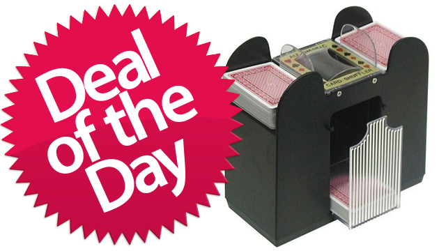 This Card Shuffler is Your The-House-Always-Wins Deal of the Day [Dealzmodo]