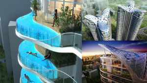 This Buildings Balconies Are Actually Swimming Pools