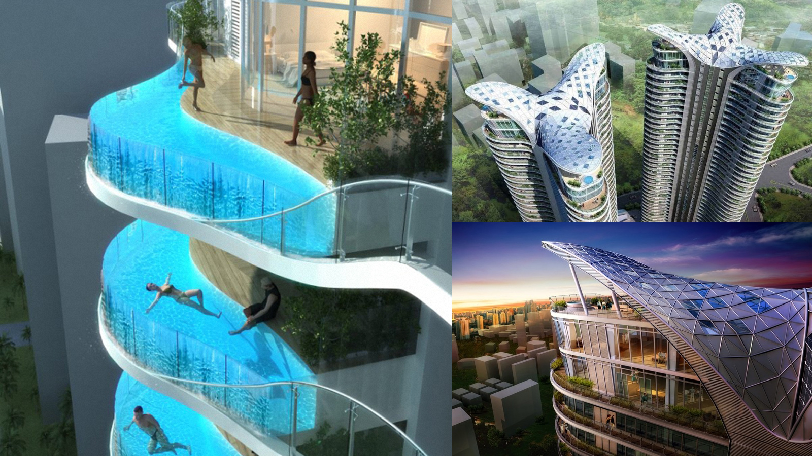 This building 39 s balconies are swimming pools gizmodo for The balcony apartments