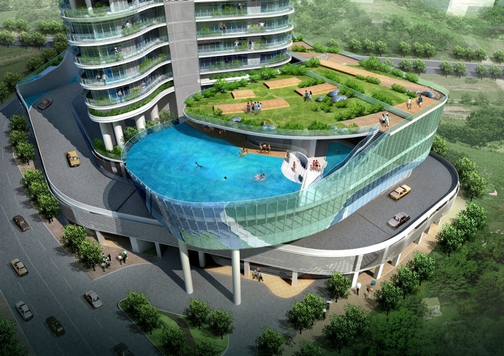 This building 39 s balconies are swimming pools gizmodo - According to jim the swimming pool ...