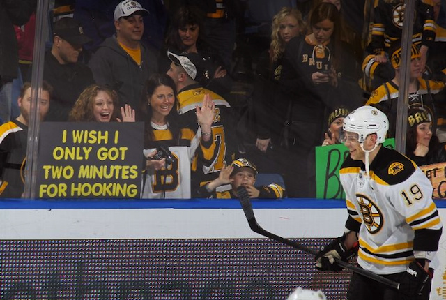 "Bruins Fans Make Clever ""Two Minutes For Hooking"" Sign That Gets Filthy Photoshop Update"