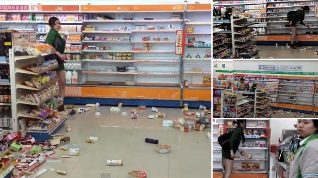 Taiwanese Woman Trashes Convenience Store. Clerk Just Watches.