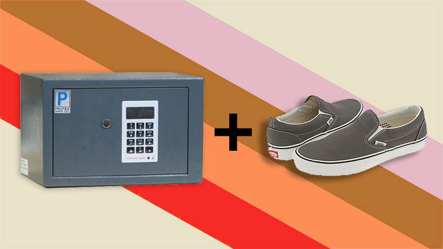 Store Your Shoes in a Hotel Safe to Help You Remember to Grab Your Valuables