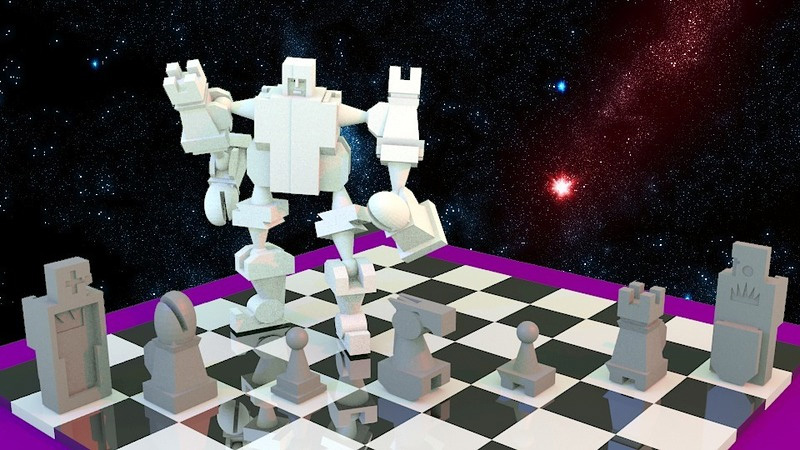 Click here to read Snap-Together Voltron Chess Set Is a Checkmate Of Awesome