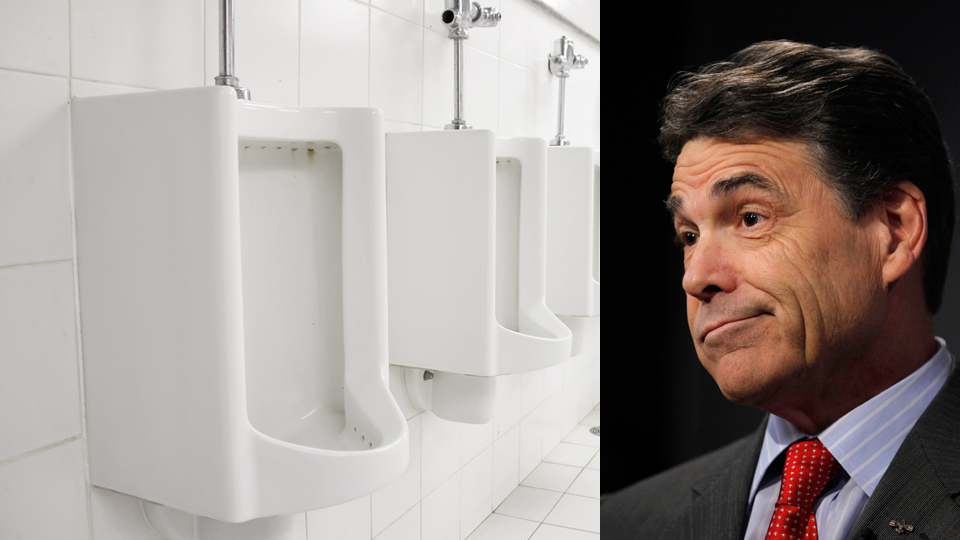 Click here to read Is Rick Perry a Creepy Pee-er, or Just High on Pills?