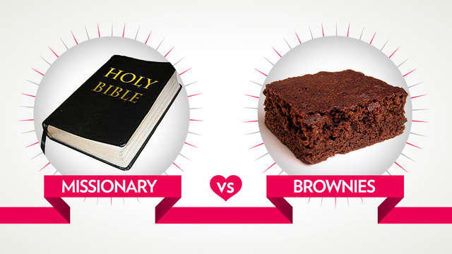The March Madness Finale: Sex vs. Chocolate Judgment Day Has Arrived