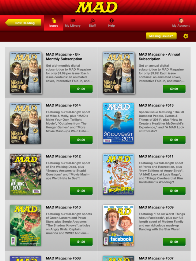 Mad Magazine App Gallery
