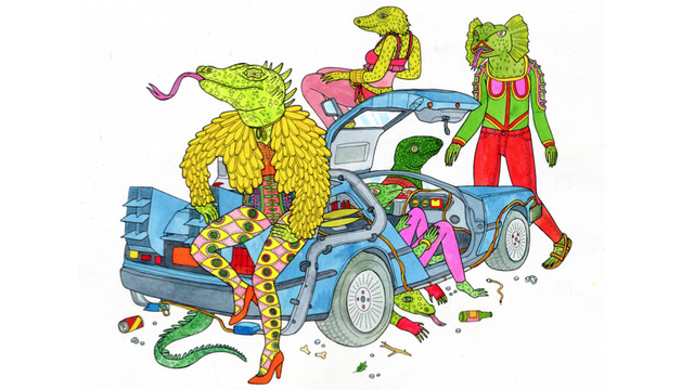 Crazy lizard-folk + a DeLorean? Yes, please.