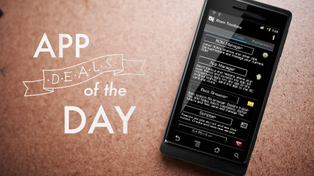 Daily App Deals: Get ROM Toolbox Pro for Android for $2.99 in Today's App Deals