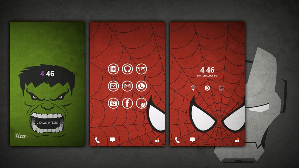 The Avengers Assemble Home Screen