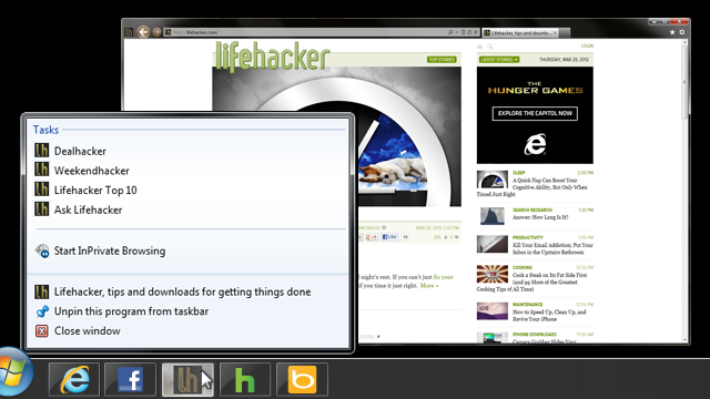 Which Lifehacker Sections Would You Like to See Pinned in IE 9?