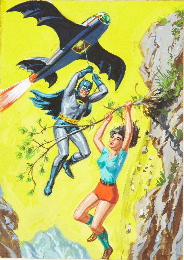 The Dark Knight rides a shark in bondage-crazy 1960s Batman art