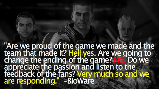 There Will Be No New Mass Effect 3 Endings, Just An Extended One