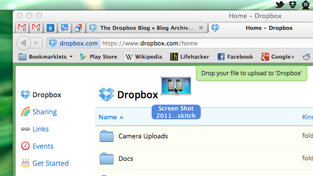 You Can Now Drag Files Into Your Browser to Upload Them to Dropbox