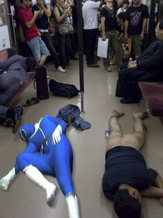 A Hairy Butt, a Drunk Businessman, and a Power Ranger Make Train Rides More Interesting