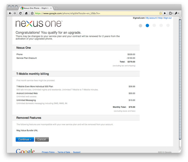 How Existing T-Mobile Customers Can Score The $180 Nexus One Discount