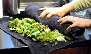 Use a Bath Towel to Keep Salad Greens Fresh