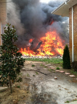 F-18 Crashes into Apartment Building and Explodes (Update: No Deaths)