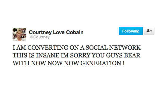 Don't Worry, Now Now Now Generation, Courtney Love Is Converting For You