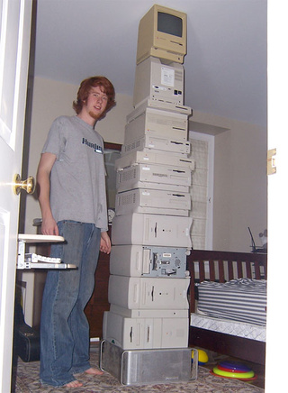 Too Much Time + Too Much Money = Tower of Macs