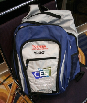Saddest Sight in the World: HD DVD Sponsored Bags at CES