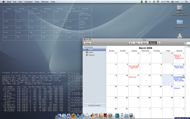 Embed iCal Calendars on Your Desktop as Text