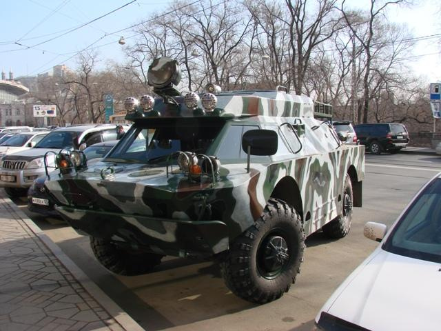 Drive An Old Russian Armored Recon Vehicle To The Store