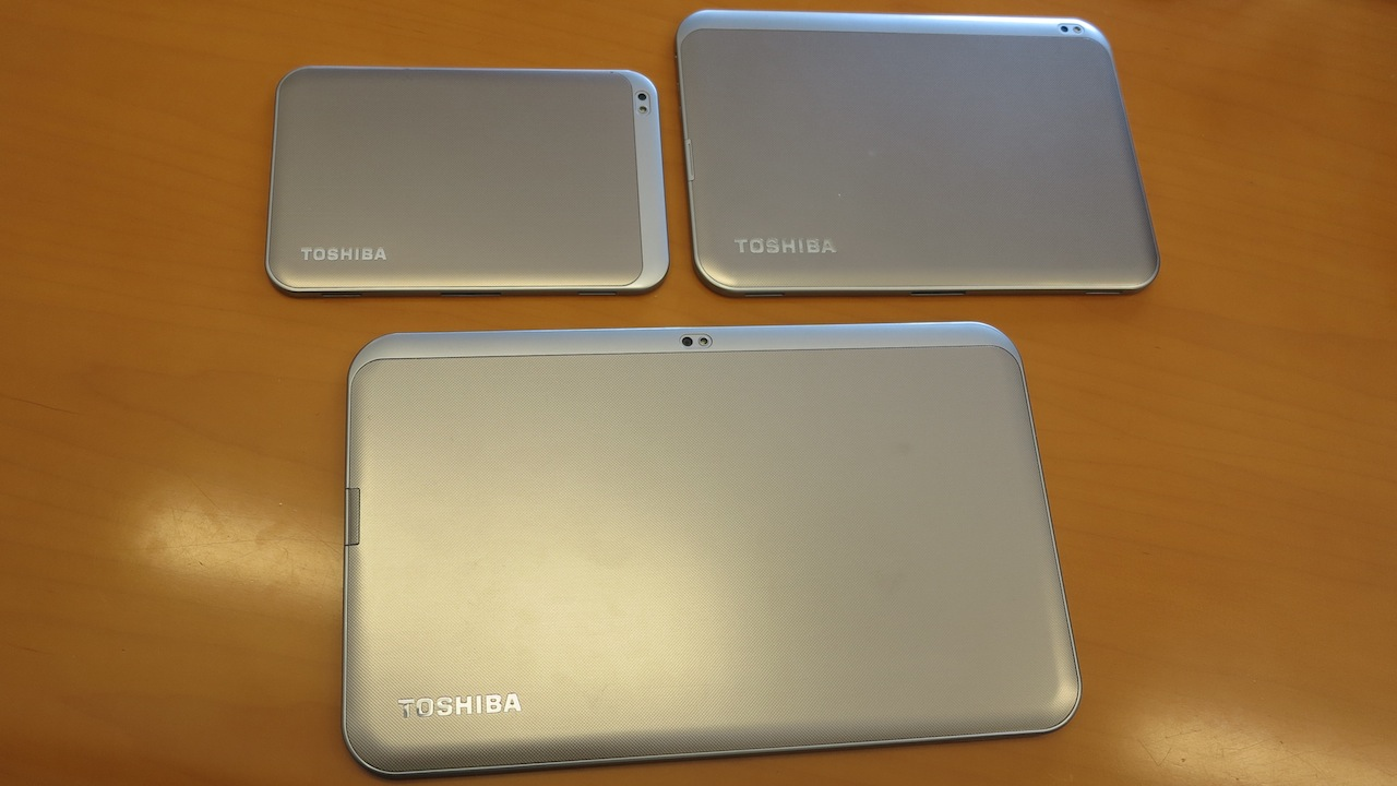 Hands On: Toshiba's New Excite Tablets Come In Small, Regular, and Holy Crap